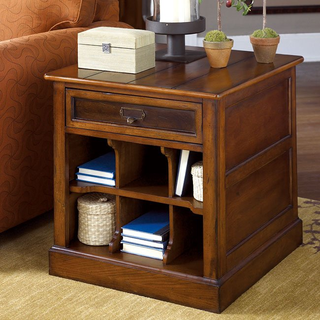 Mercantile Rectangular Storage End Table End Tables