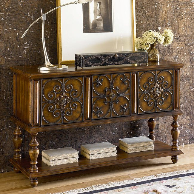 Hidden Treasures Console Table w/ Storage - Sofa Tables - Occasional ...