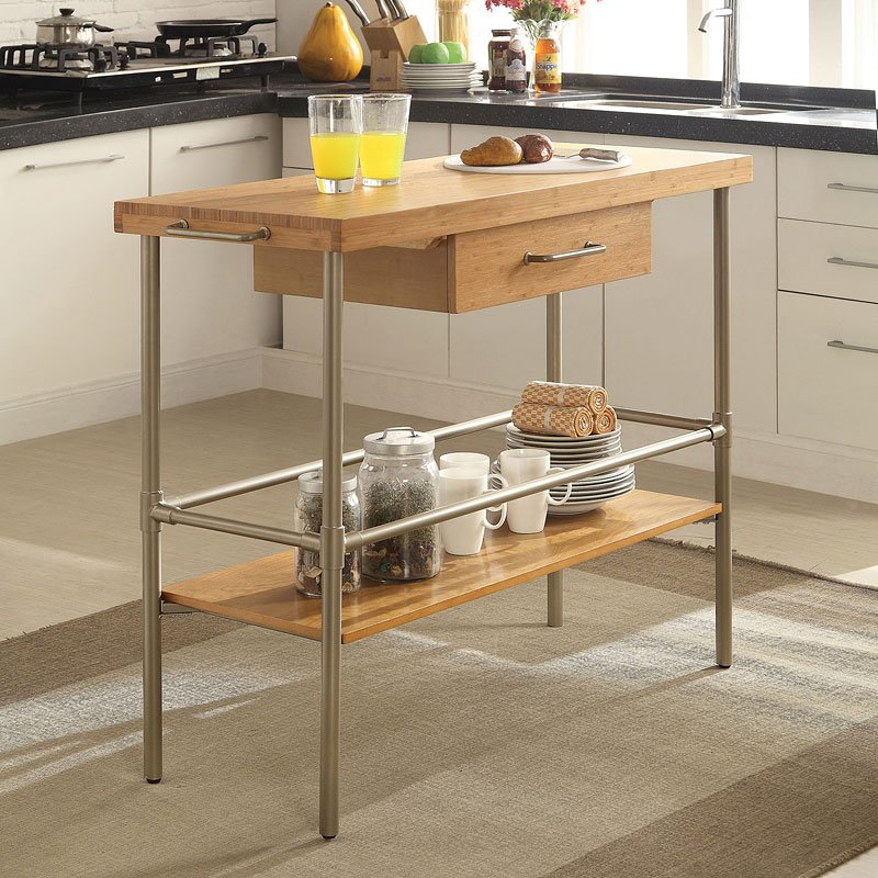 Bamboo Kitchen Island Kitchen Islands And Serving Carts