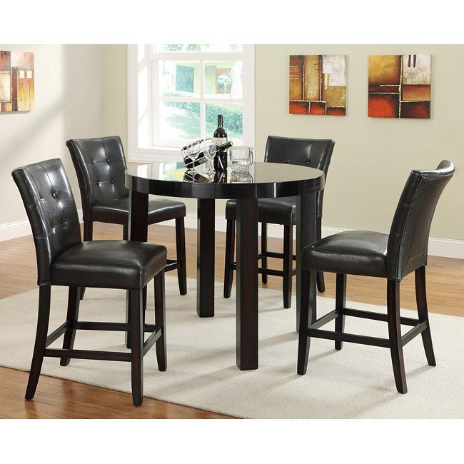 maloy counter height dining room set coaster furniture