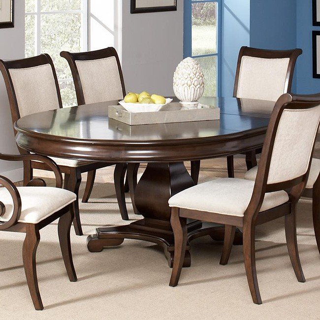 Round Formal Dining Table: Harris Round Dining Table Coaster Furniture