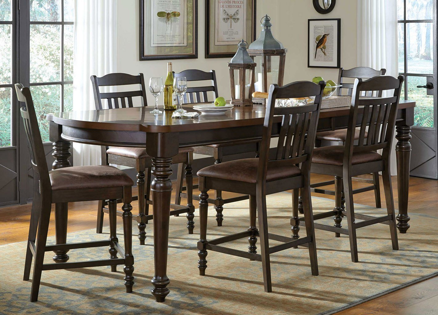 Mulligan counter height dining room set casual dining sets dining room and kitchen furniture - Casual kitchen sets ...