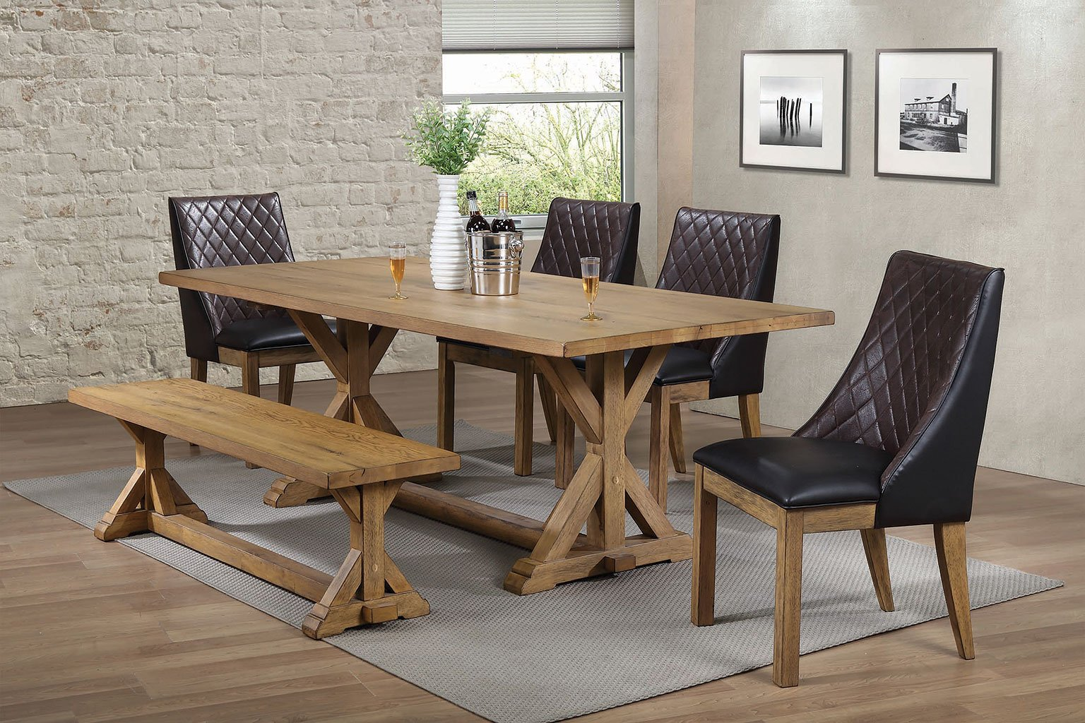 douglas dining room set w dark brown chairs formal dining sets