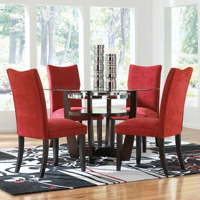 Standard Furniture Dining Room Sets: Apollo Dining Room Set W/ Red Chairs Standard Furniture
