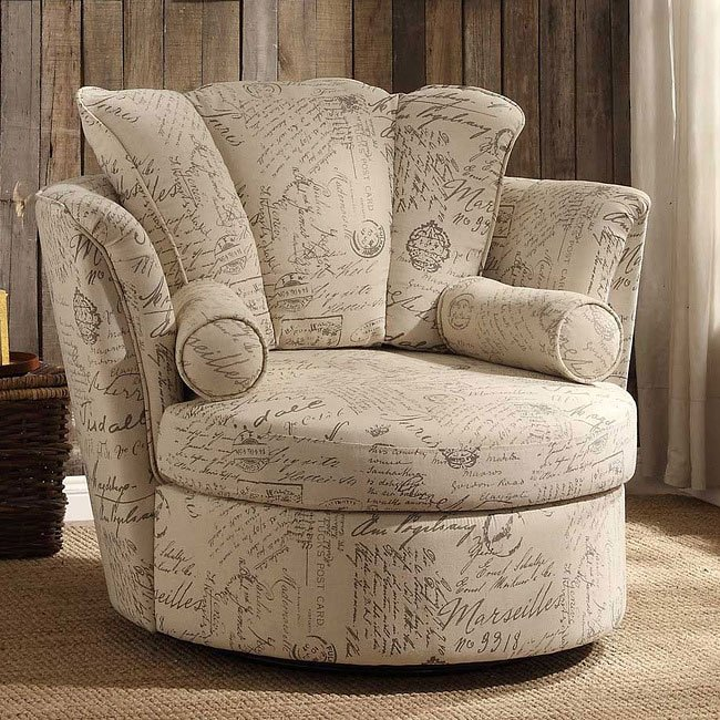 aurelia oatmeal linen swivel accent chair accent chairs living room furniture living room. Black Bedroom Furniture Sets. Home Design Ideas