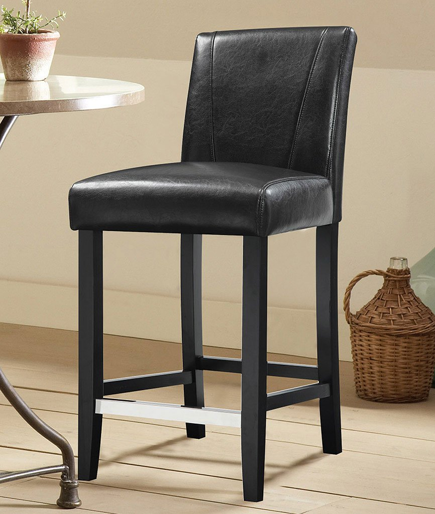 Commercial grade counter height stool black set of 2 - Commercial grade living room furniture ...