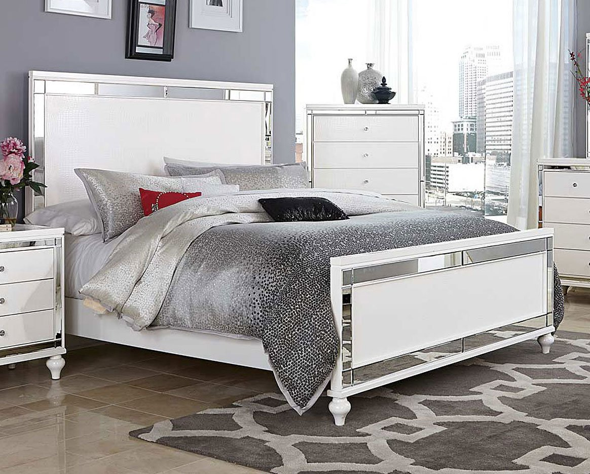 alonza panel bed beds bedroom furniture bedroom