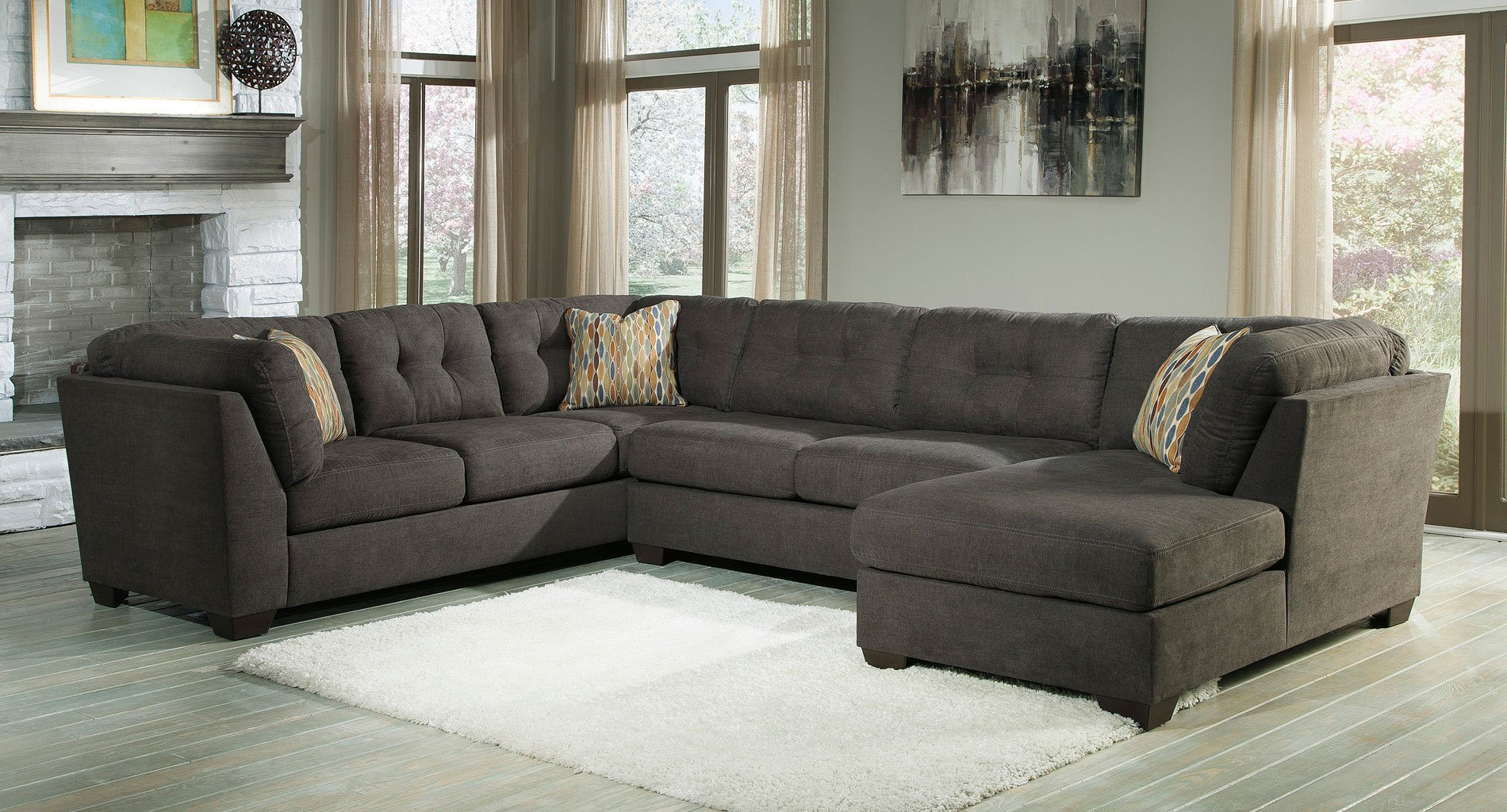 Delta City Steel Right Chaise Sectional Sectionals