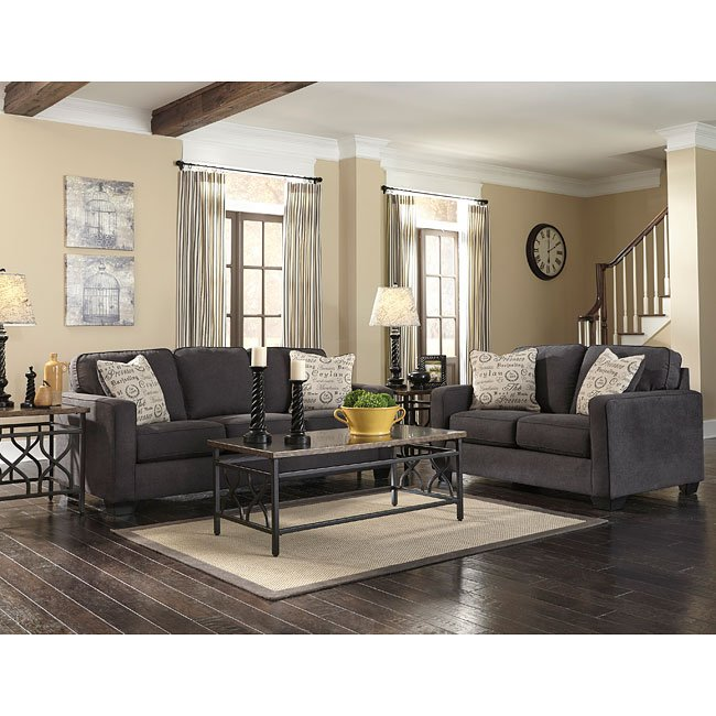 alenya charcoal living room set living room sets living room furniture living room. Black Bedroom Furniture Sets. Home Design Ideas