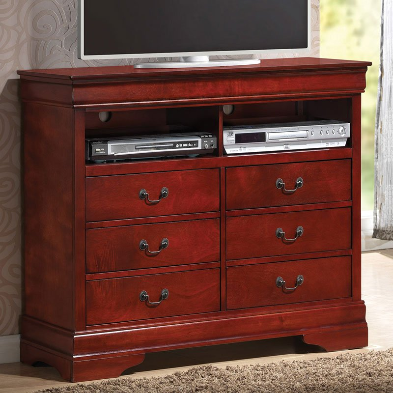 Louis Philippe Media Chest (Rich Cherry)