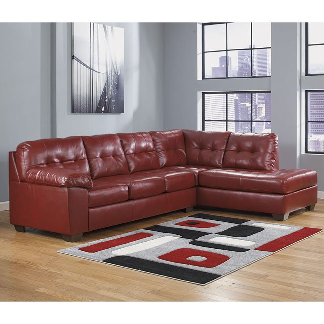 Alliston Durablend Salsa Sectional W Right Chaise