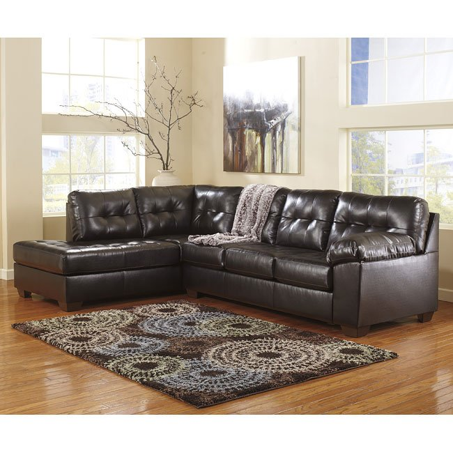 Alliston Durablend Chocolate Sectional W Left Chaise