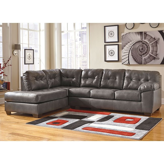 Alliston Durablend Gray Left Chaise Sectional Sectionals