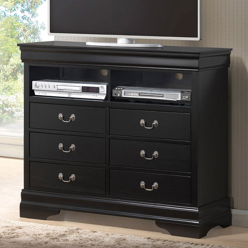 louis philippe media chest deep black media chests