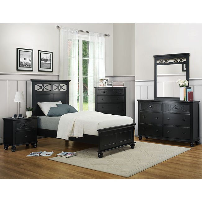 sanibel youth bedroom set black homelegance furniturepick