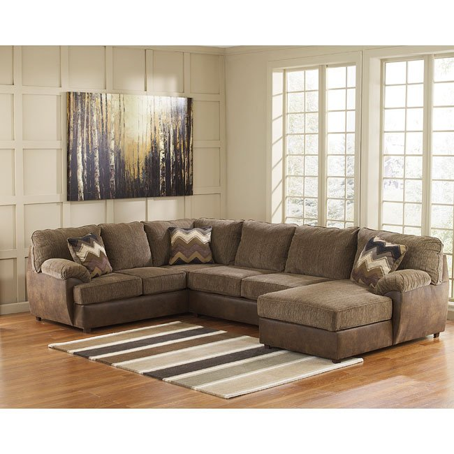Ashley Furniture Beaumont Tx: Cladio Hickory Right Chaise Sectional Benchcraft