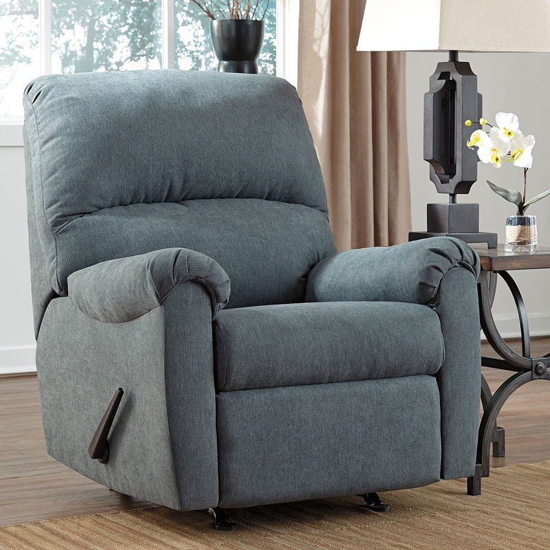 denim rocker recliner recliners and rockers living room furniture