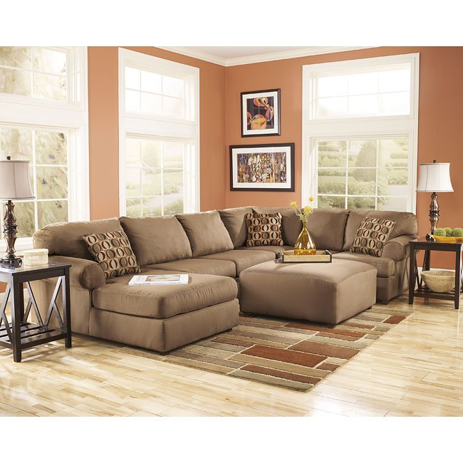 Ashleys Furiture: Cowan Mocha Sectional Set Signature Design By Ashley