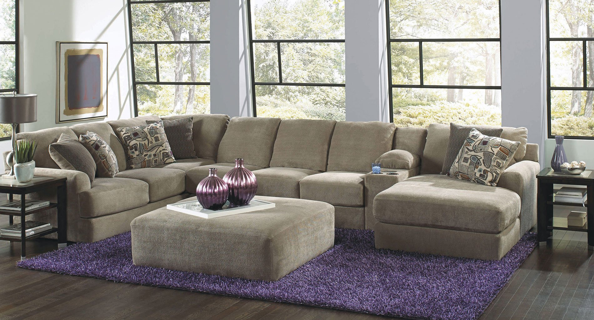 Malibu Modular Sectional w/ Chaise (Taupe) - Sectionals ...