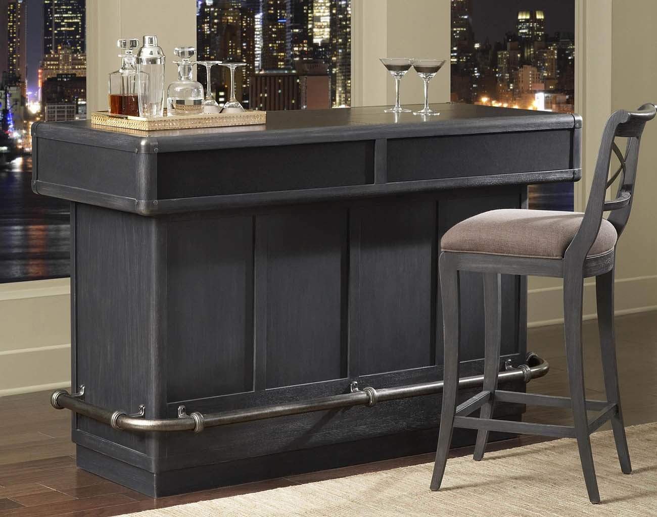 Vintage Tempo Home Bar Set Pulaski Furniture