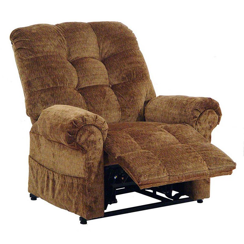 Omni power lift full lay out chaise recliner havana for Laying out living room furniture