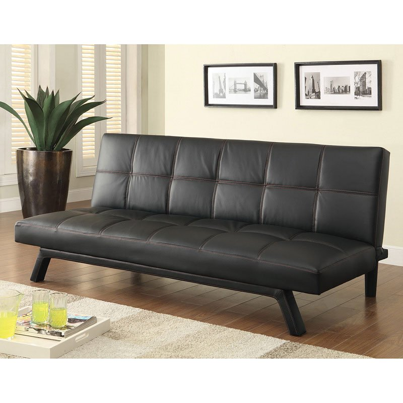 Sofa Bed w Red Stitching Futons Living Room Furniture