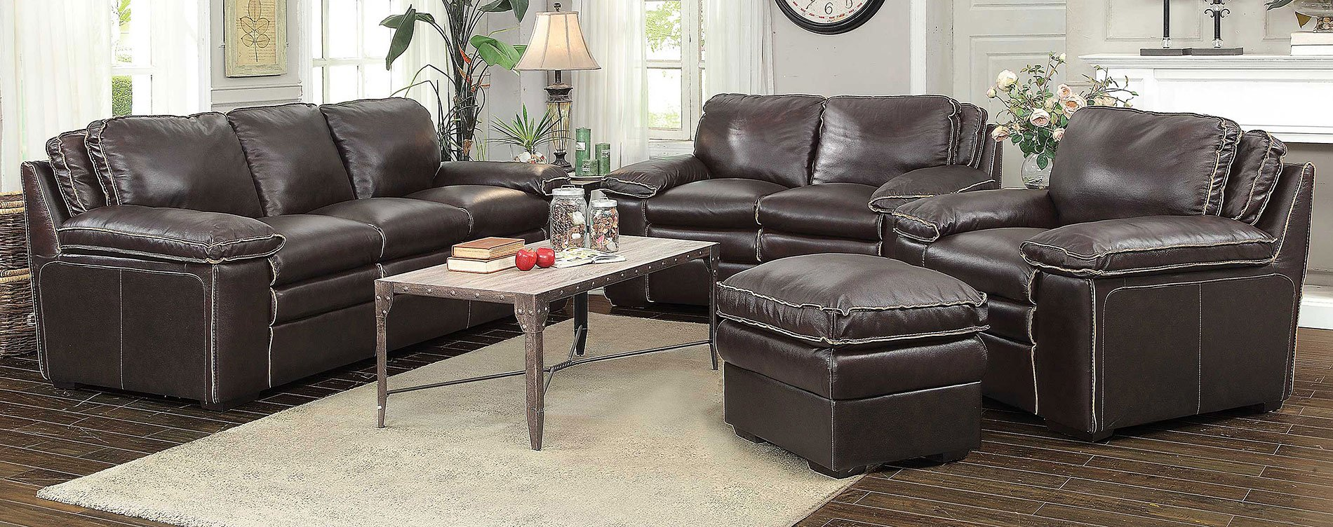 Regalvale Living Room Set Brown Living Room Sets