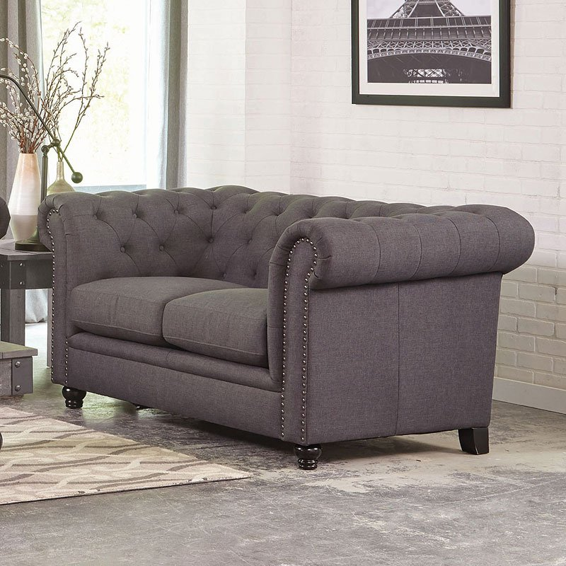 Roy Loveseat Grey Loveseats Living Room Furniture