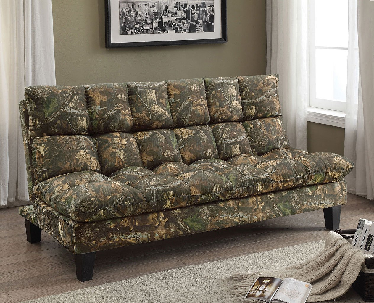 Camo Adjustable Sofa Bed Autumn Futons Living Room