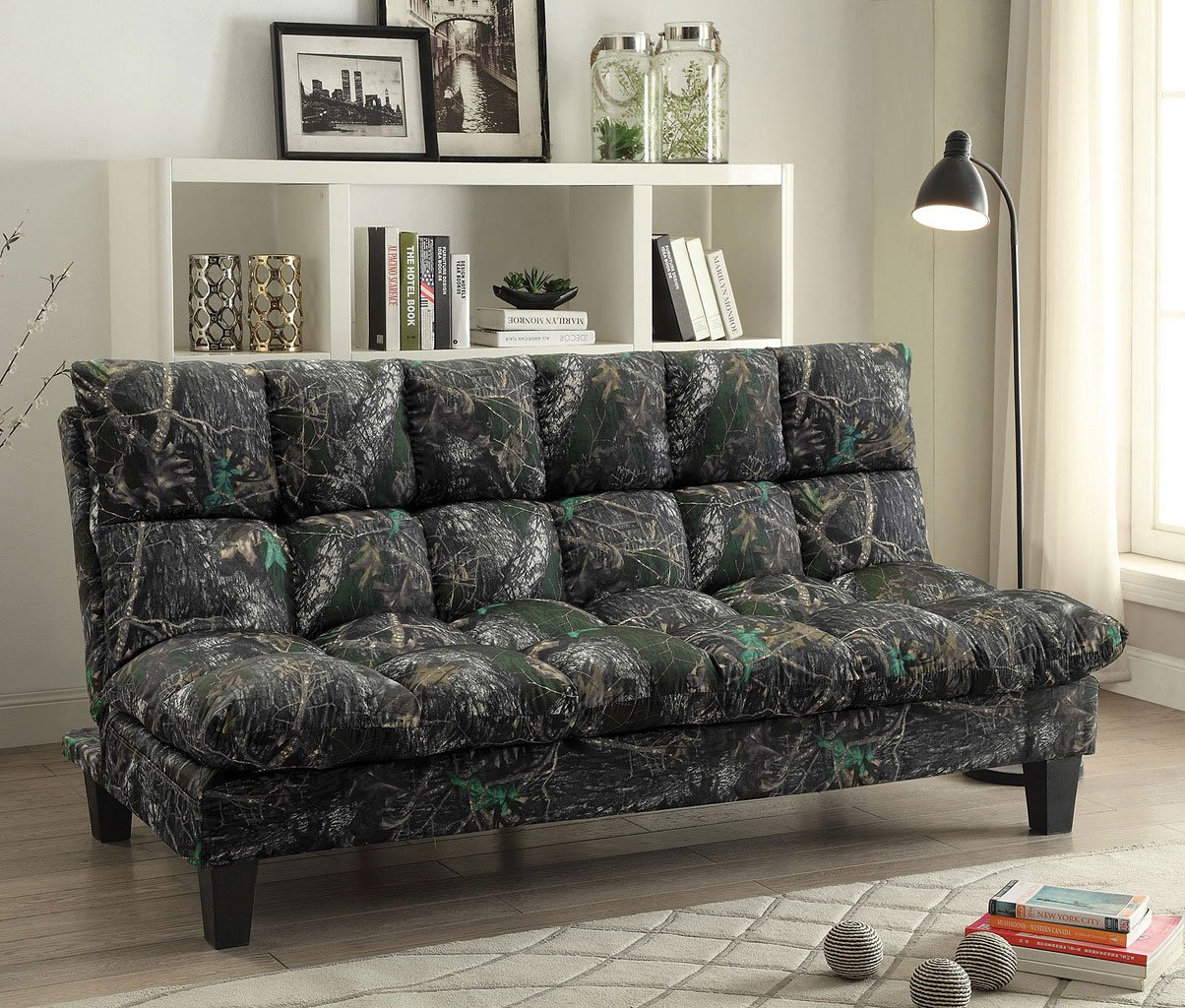 camo adjustable sofa bed woodland futons living room
