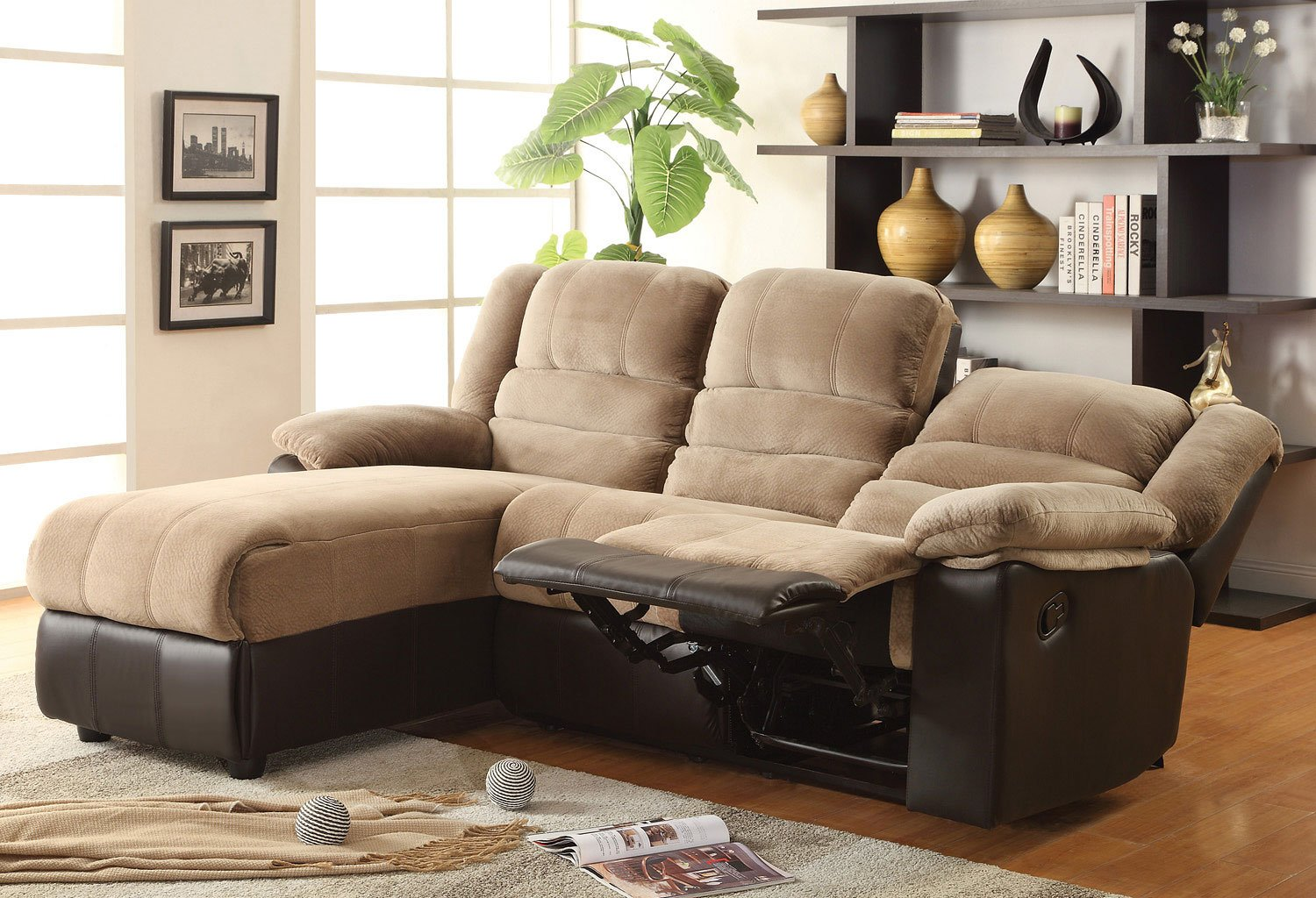 Huxley Reclining Left Chaise Sofa Sectionals Living Room Furniture Living Room