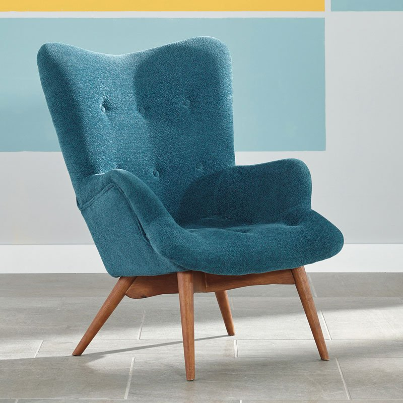 Turquoise Living Room Furniture: Pelsor Turquoise Accent Chair