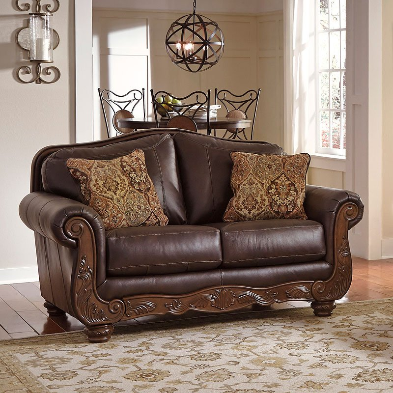 Mellwood Walnut Loveseat Loveseats Living Room Furniture Living Room