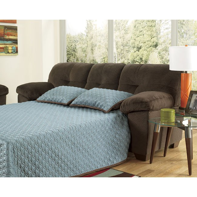 Loveseat Sofa Bed Ashley Furniture: Inger Chocolate Full Sofa Sleeper Signature Design By