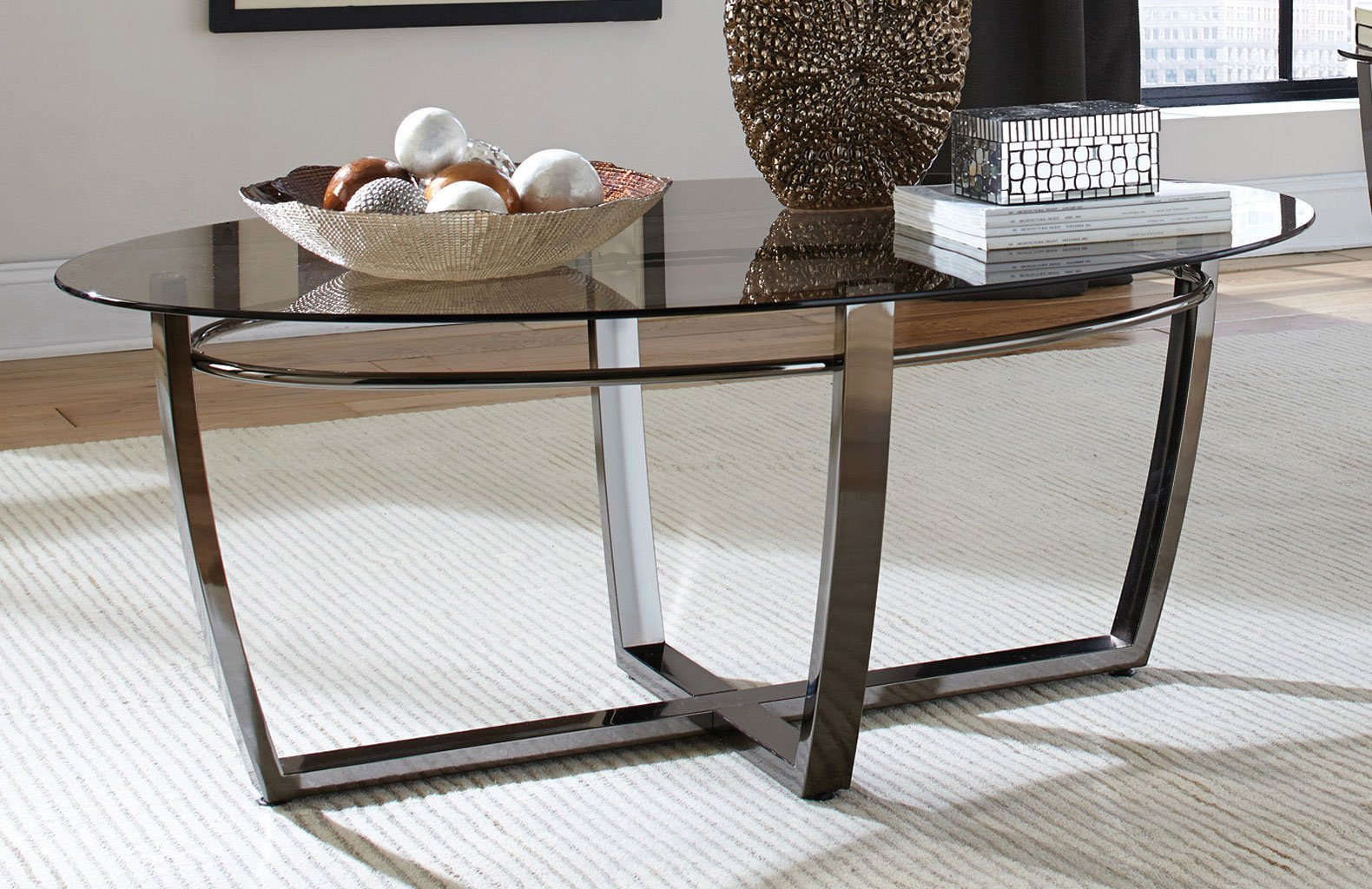 Smoked Glass Top Coffee Table Coffee And Cocktail Tables