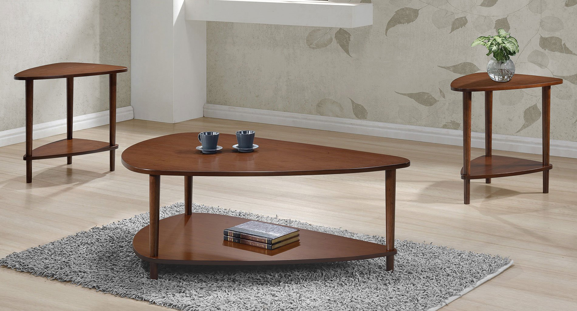 Guitar Pick Shaped Occasional Table Set Occasional Table