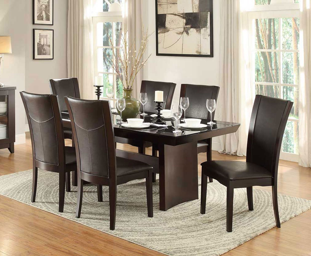 dining room set w dark brown chairs formal dining sets dining