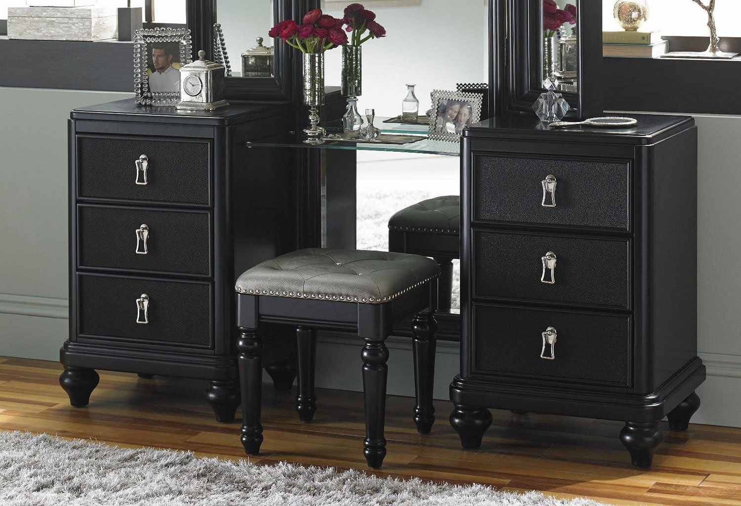 Diva Midnight Vanity Dresser W Stool Bedroom Vanities Bedroom Furniture Bedroom