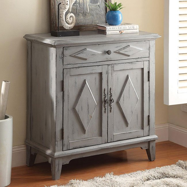 Distressed Blue Accent Cabinet Accent Chests And Cabinets Occasional And Accent Furniture