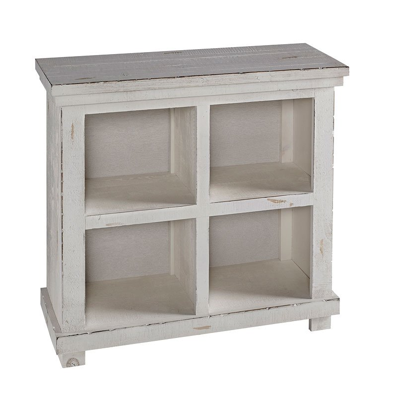 Willow 32 Inch Height Bookcase (Distressed White