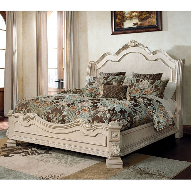Ashley Furniture Discontinued: Ortanique Sleigh Bed Signature Design By Ashley Furniture