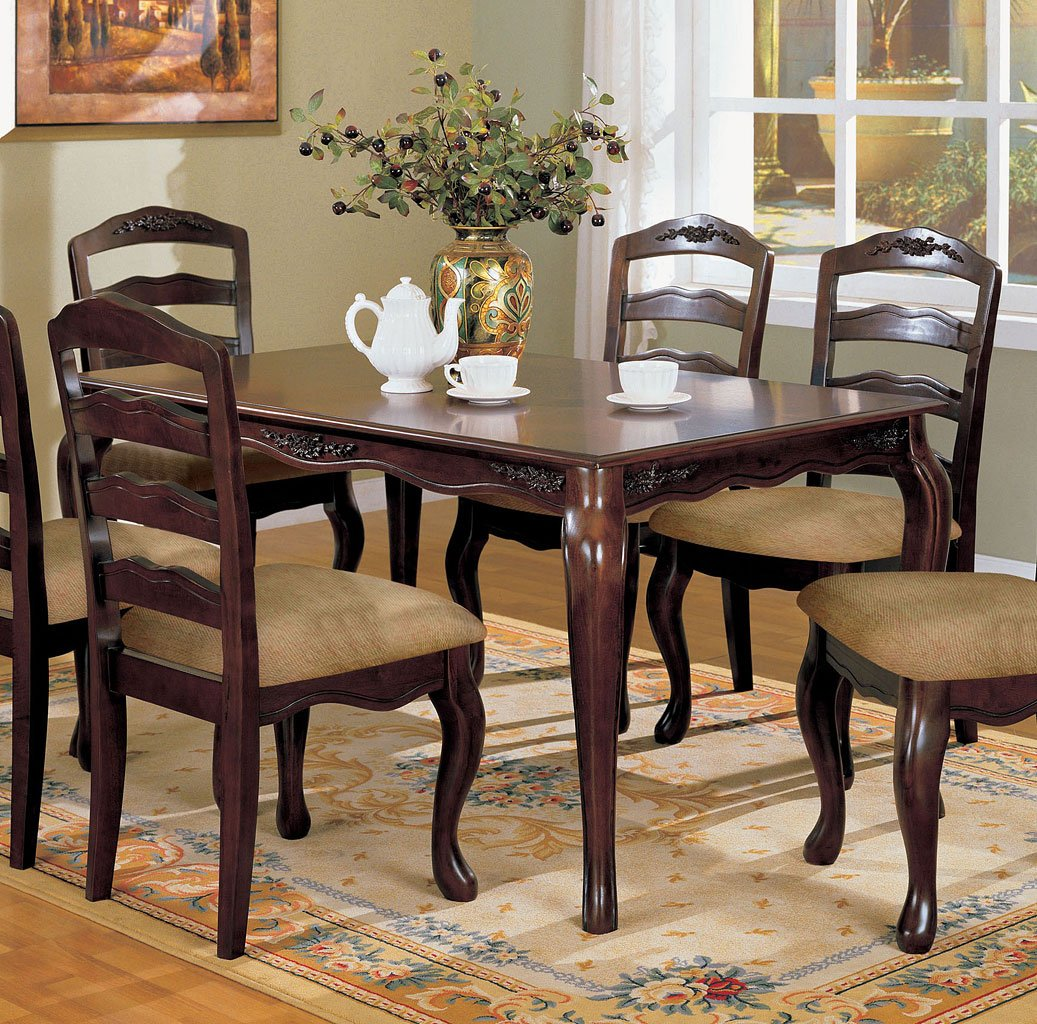 townsville inch dining table furniture of america fa cmt