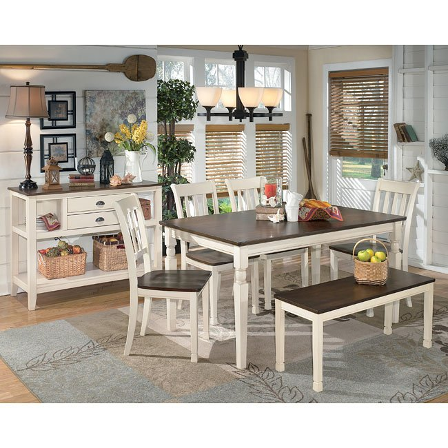 Ashley Furniture Fayetteville: Whitesburg Dining Room Set W/ Bench Signature Design By