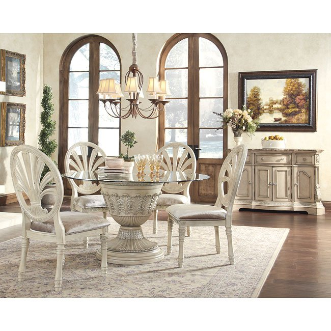ortanique round dining room set millennium furniturepick