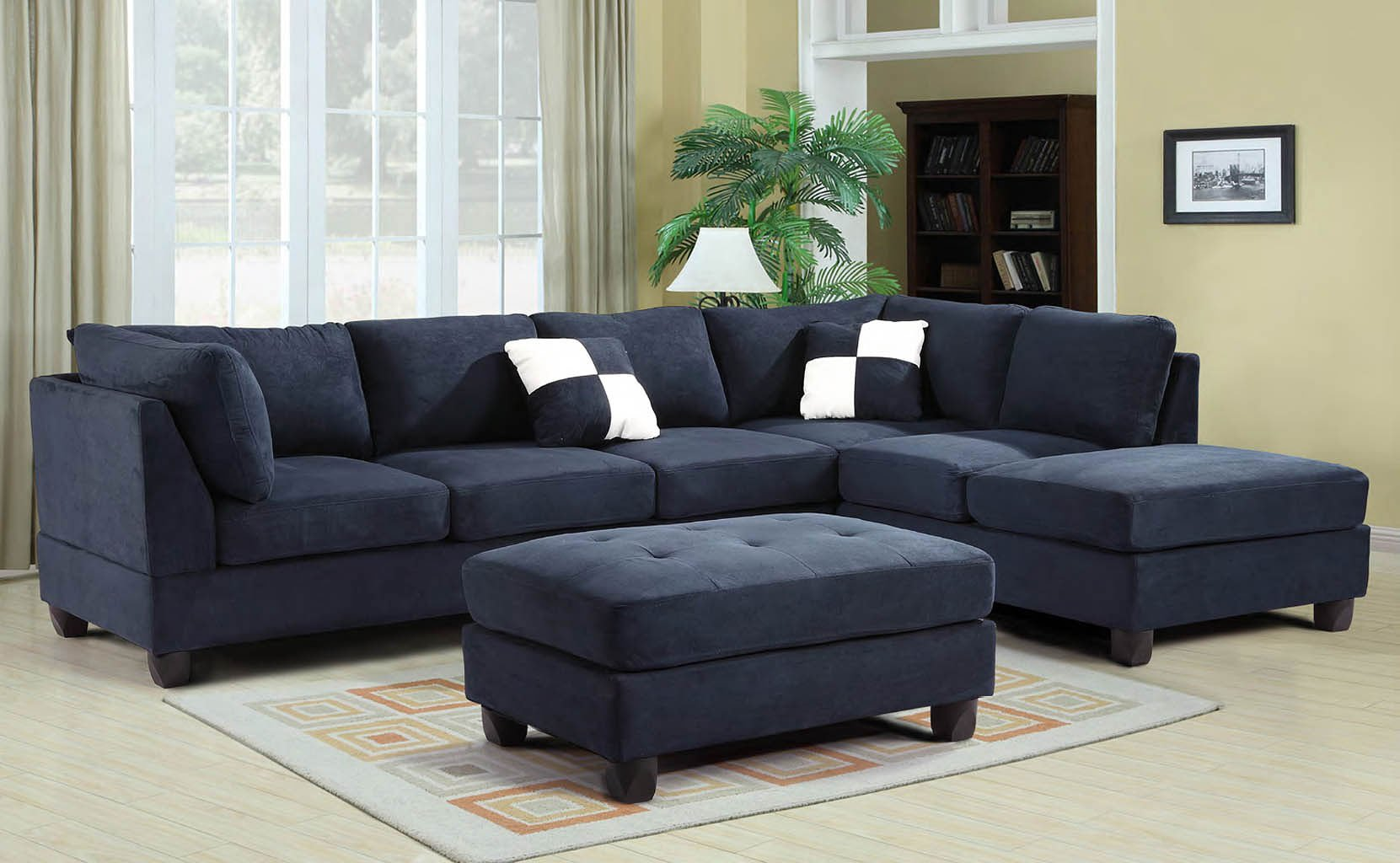 G630 Reversible Sectional Set (Navy Blue)