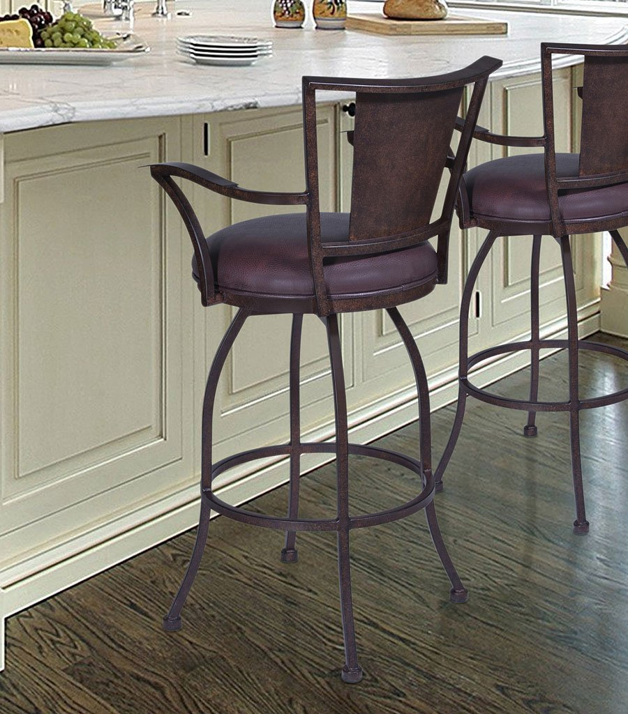Dynasty Bar Height Arm Barstool Auburn Bay Barstools Home Bar And Game Room Furniture