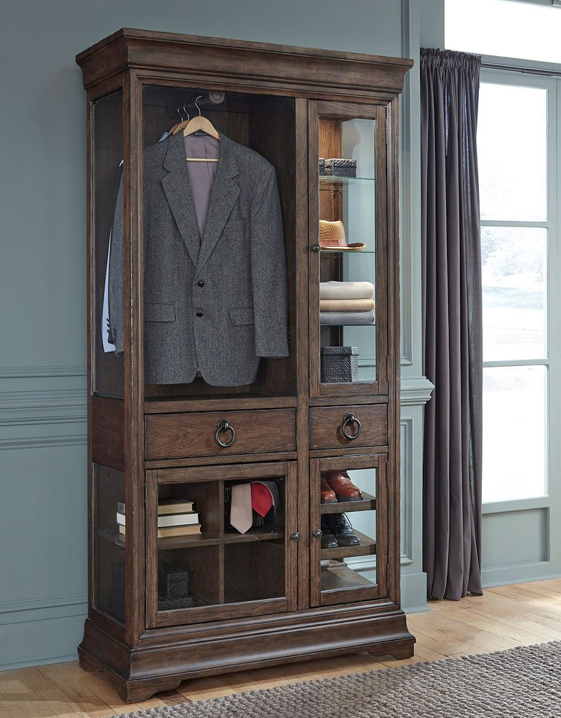 lindale curio armoire armoires and wardrobes bedroom furniture bedroom. Black Bedroom Furniture Sets. Home Design Ideas