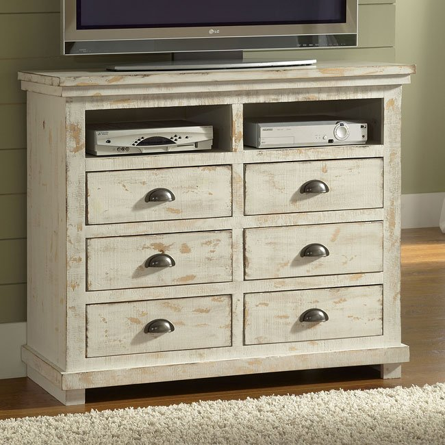 Distressed Bedroom Sets Bedroom Cupboards With Mirror Sliding Doors Bedroom Colour As Per Vastu Shabby Chic Bedroom Sets: Willow Media Chest (Distressed White)