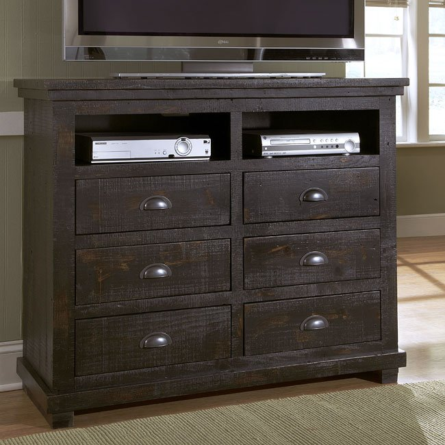 willow media chest distressed black media chests