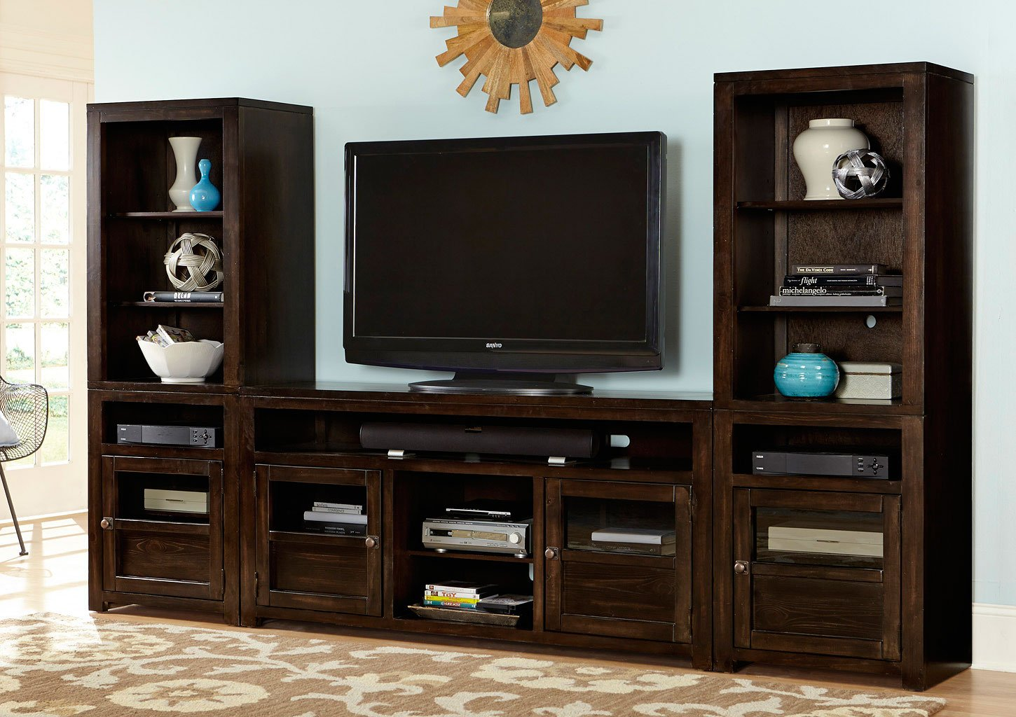 Triumph entertainment wall entertainment centers and Entertainment living room furniture